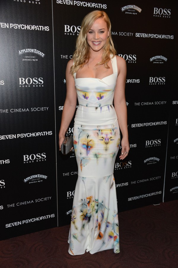 Actress Abbie Cornish Wears A Sexy Roland Mouret Dress New York